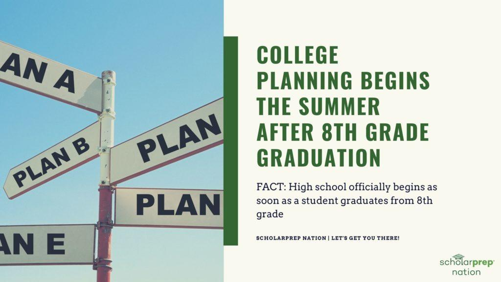 College Planning Begins the Summer After 8th Grade