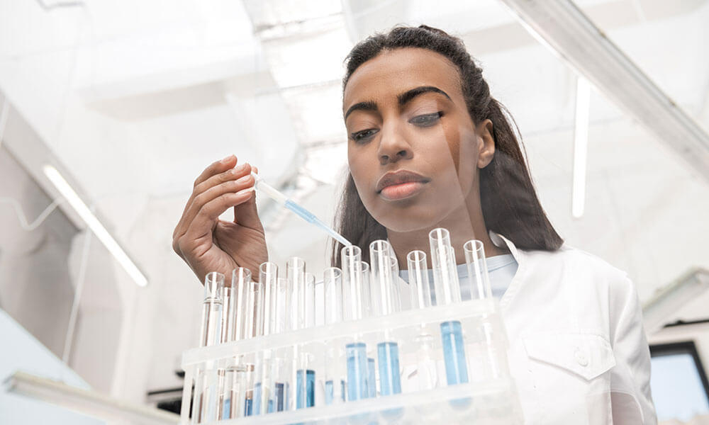 Young African-American Female scientist