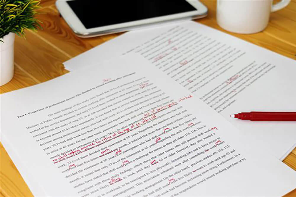College Essay Writing with Red Edits