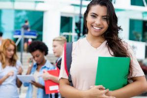 Smiling Latina student